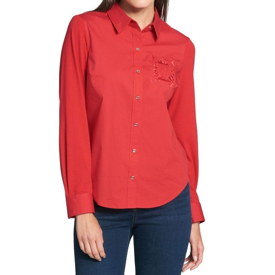 fba8c735 Cotton Tommy Hilfiger Tops | Find Great Women's Clothing Deals Shopping at  Overstock