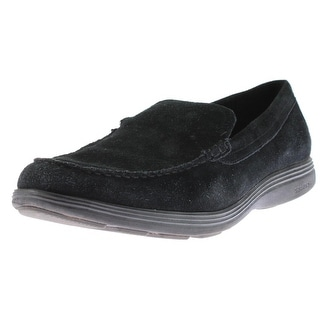 Cole Haan Mens Grand Tour Venetian Loafers Suede Slip On