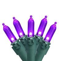 Purple 100-Bulb LED Mini Christmas Lights, 33 ft Green Wire