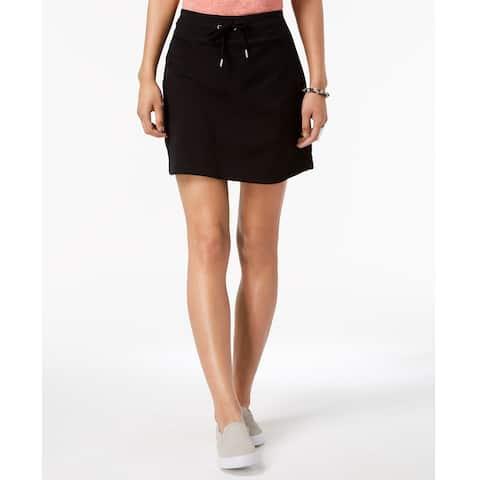 Style & Co Women's Comfort Waist Skort Deep Black Size Extra Small - X-Small