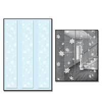 Club Pack of 36 Snowflake Party Panels Hanging Christmas Decorations 6' - WHITE