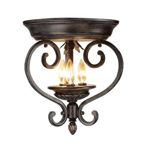 Woodbridge Lighting 36000-TOR 3 Light Down Light Flushmount Ceiling Fixture from the Rosedale Collection