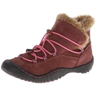 Jambu Acari Hiking Boots Faux Fur Trim Suede