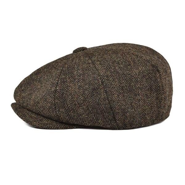 BOTVELA Mens Premium Wool Classic Flat Ivy Newsboy Cap Herringbone Pattern Flecked Hat