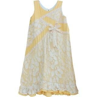 Isobella & Chloe Little Girls Marigold Arabella A-Line Sleeveless Dress 4-6X