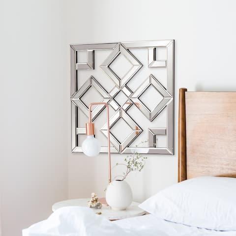 Allan Andrews Moira Mirrored Lattice Wall Mirror - Silver