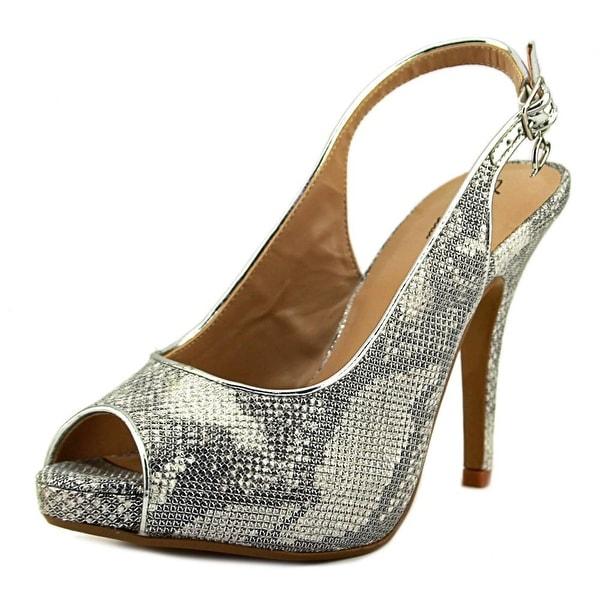 Thalia Sodi Camiila Peep-Toe Synthetic Slingback Heel