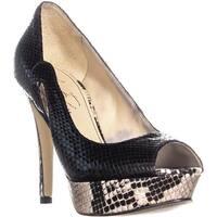 Marc Fisher Tumble7 Peep Toe Platform Heels, Black Multi - 5.5 us