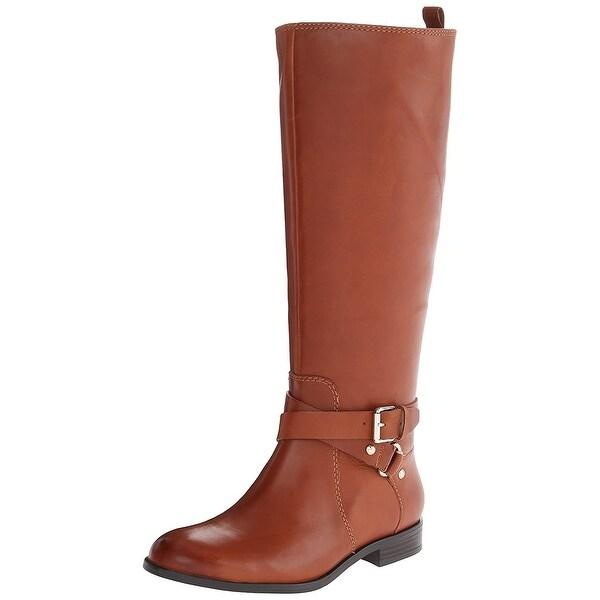Enzo Angiolini Womens Daniana Leather Almond Toe Knee High Fashion Boots