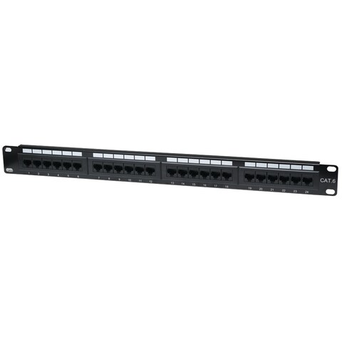 Intellinet Network Solutions(R) - 520959 - Cat6 Patch Panel 24 Port