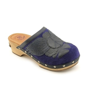 Lucky Brand Lilac Women Round Toe Leather Blue Clogs