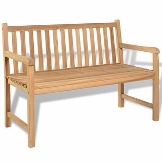 "vidaXL Outdoor Bench Teak 47.2""x24.6""x35.4"""