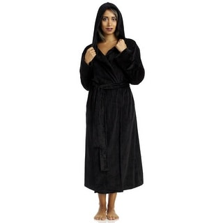 DKNY Women's Elevated Leisure Hooded Robe  - Black