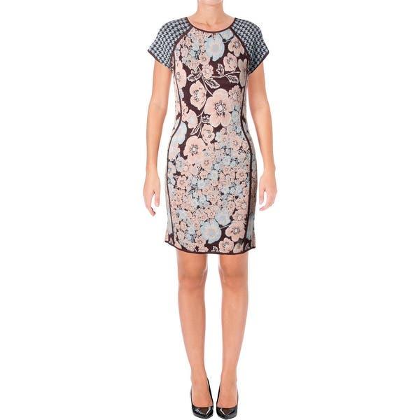 a2315cdf770 Shop Juicy Couture Black Label Womens Sweaterdress Jacquard Floral ...