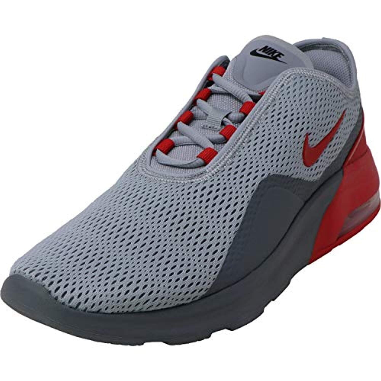 Nike Men's Air Max Motion 2 Wolf Grey/University Red Ankle-High Mesh  Sneaker - 12M