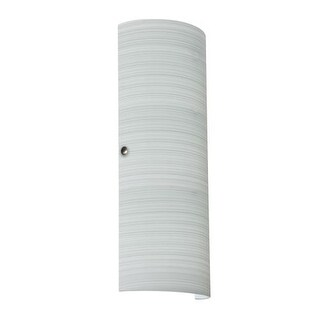 Besa Lighting 8193KR-LED Torre 2 Light ADA Compliant LED Wall Sconce with Chalk Glass Shade