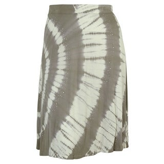 INC International Concepts Women's Tie Dye Crystal Bead Skirt - 1X