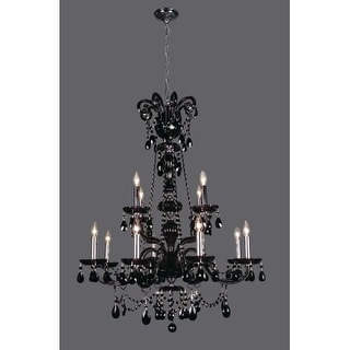 """Classic Lighting 82018- 42"""" Crystal Chandelier from the Monte Carlo Elite Collection"""