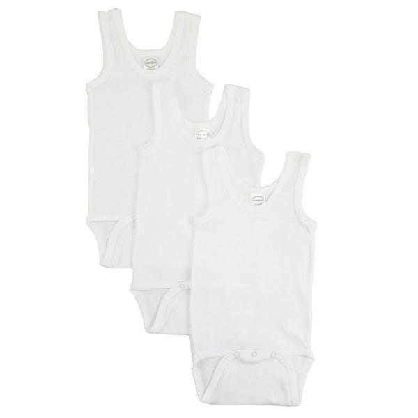 Bambini White Tank Top Onezie - Size - Newborn - Unisex