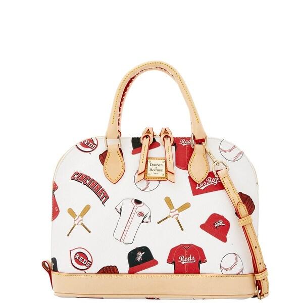 Dooney & Bourke MLB Reds Zip Zip Satchel (Introduced by Dooney & Bourke at $248 in Jan 2015) - White
