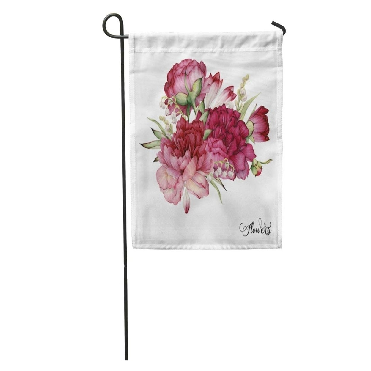 Flower Bouquet Of Peonies Watercolor For Wedding Birthday Holiday And Summer Vintage Garden Flag Decorative Flag House N A On Sale Overstock 31442127