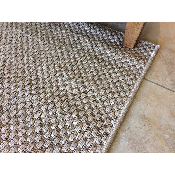 Shop StyleHaven Woven Solid Sand Indoor-Outdoor Area Rug - On Sale ...