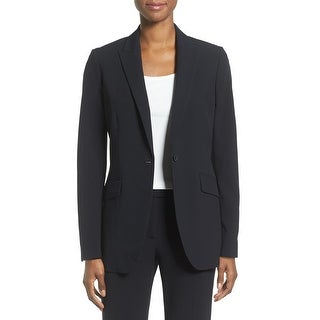 Link to Anne Klein Womens Suit Jacket Black Size 2 Single Button Long Boyfriend Similar Items in Women's Outerwear