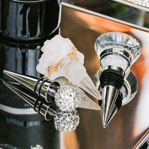 Sparkles Home Rhinestone Geode Wine Stopper - N/A