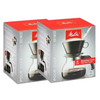 Melitta 640446 2 To 6 Cup Manual Coffee Maker (2-Pack) 6 - Cup Pour Over Coffeemaker