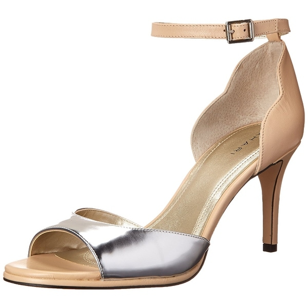 Tahari Womens GEA Leather Open Toe Casual Strappy Sandals