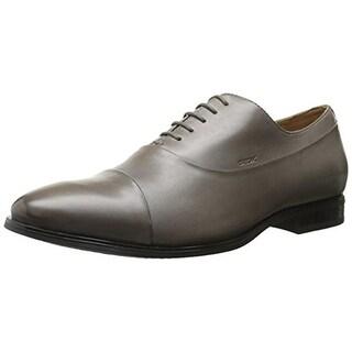 Geox Mens Oxfords Leather Toe Cap - 12.5 medium (d)