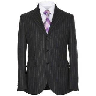 MAN 1924 Carlos Castillo Kenedy Gray Stripe 3-Button Sportcoat 46 Regular $995