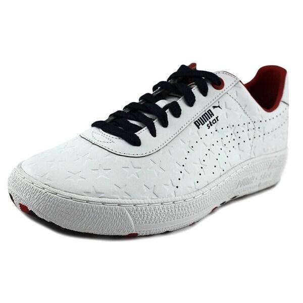 Puma Star Stars Men  Round Toe Leather White Sneakers