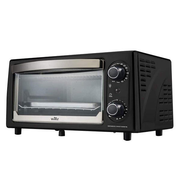 Willz 1050 Watt 4 Slice Toaster Oven in Black with Timer. Opens flyout.