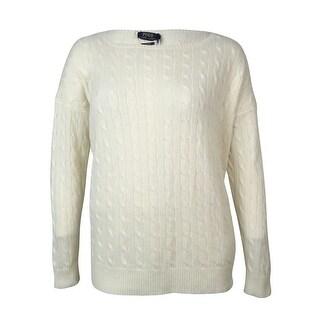 Polo Ralph Lauren Women's Cable Knit Cashmere Dolman Sweater - xL