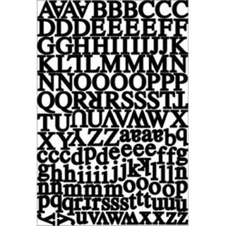 Headline - Black - Alphabet Cardstock Stickers