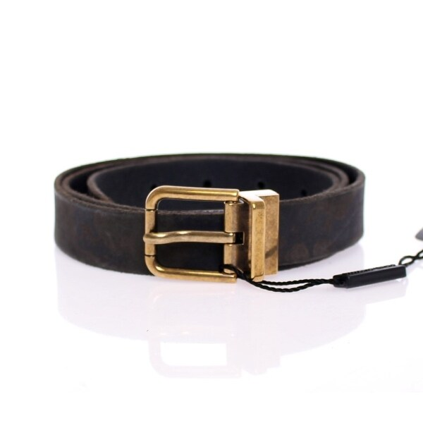 Dolce & Gabbana Dolce & Gabbana Black Spotted Leather Logo Belt - 100-cm-40-inches