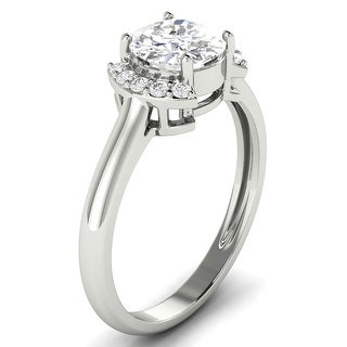 Link to 1.10 CT Round Cut Half Halo Diamond Engagement Ring 1CT Center in 14KT Similar Items in Wedding Rings