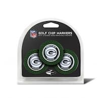 TEAM GOLF 31088 Green Bay Packers Golf Chip - Pack of 3