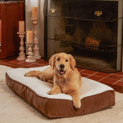 Happy Hounds Buster Sherpa Latte Dog Bed