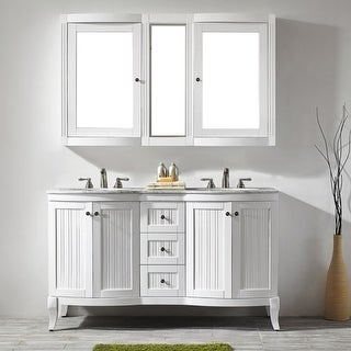 """Miseno MV717060 59-3/10"""" Free Standing Double Vanity Set with Wood Cabinet"""