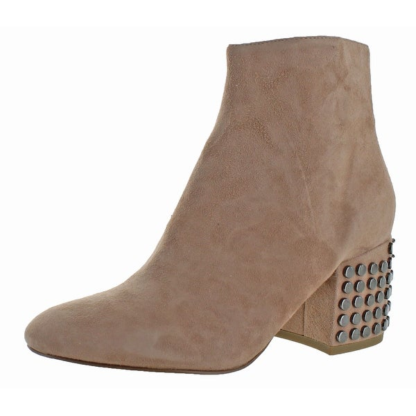 Kendall + Kylie Blythe Women's Ankle High Block Heel Boots Suede Studded
