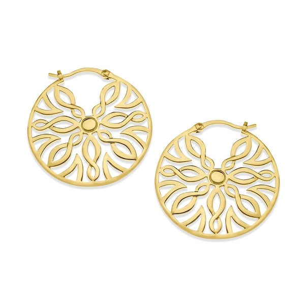 Hoop Earrings in 14K Gold-Plated Sterling Silver - YELLOW