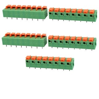 10pcs KF237 300V 10A 5.08mm Pitch 3P Spring Terminal Block for PCB Mounting
