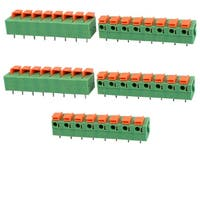 5pcs KF142 400V 15A 7.68mm Pitch 8P Green Spring Terminal Block for PCB Mounting