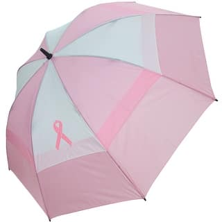 "BagBoy Women's 62"" Breast Cancer Awareness Umbrella