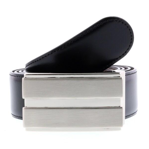 HS Collection HSB 2001 Black/Brown Reversible/Adjustable Mens Belt