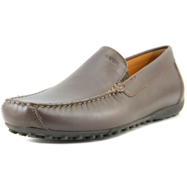 Geox U Snake Moc II Men Moc Toe Leather Brown Loafer
