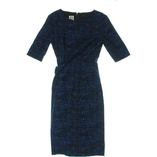 Anne Klein Womens Layered Printed Wear to Work Dress - 4