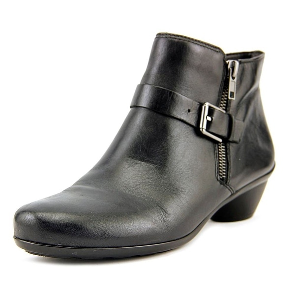 Naturalizer Hitch Women Round Toe Leather Black Bootie